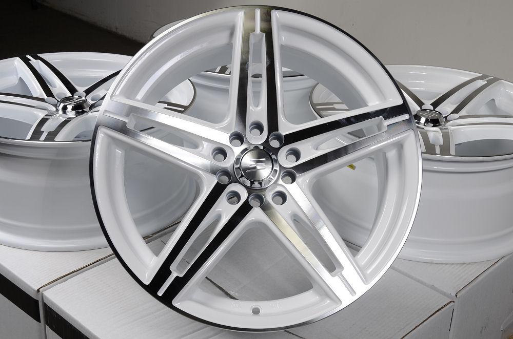 17 5x114 3 5x100 white wheels honda civic accord prelude avalon venza tsx rims ebay. Black Bedroom Furniture Sets. Home Design Ideas