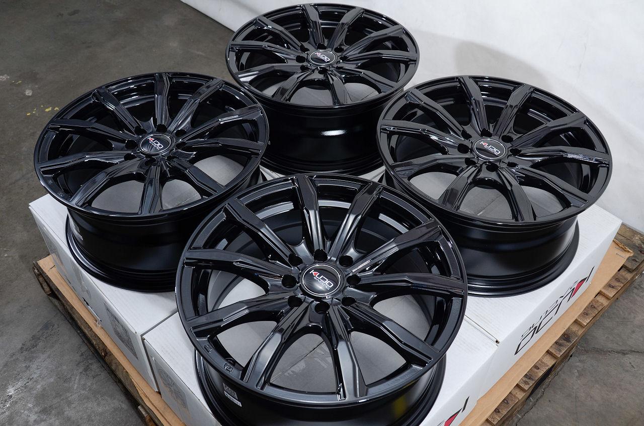 16 4x100 4x114.3 Black Rims Fits Nissan Altima Civic ...