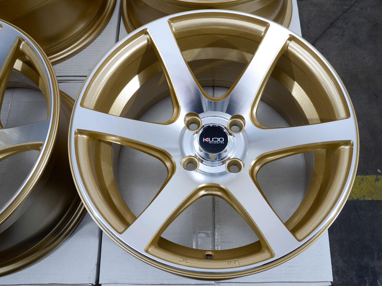 4 Aodhan V2 Gold Valve Stems Fits Honda Accord Civic Crx Prelude Del Sol S2000